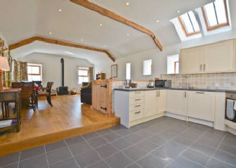 Super kitchen area at Curlew Cottage self catering holiday cottage accommodation near Hexham and Hadrian's Wall Northumberland